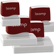 iStamp Pre-Inked Large, Wide Rectangular Custom Stamps Customized Your Text or Upload Artwork | EZ Custom Stamps (608) 310-4300