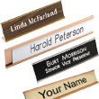 Looking for a name plate with the holder frame included? Shop EZ Custom Stamps store for the customized name plates you need for your business.