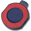Looking for two-color stamp ink pads? This Trodat circular replacement ink cartridge pad comes in two-color of your choice. Available at the EZ Custom Stamps store.