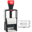 Shop for a self-inking stamp dater on the EZ Custom Stamps store. This 2000 Plus Classic Line 2160 self-inking dater comes in 1 color with 2 lines of customization.
