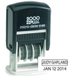 Cosco 2000 Plus Printer S160 Self-Inking Micro Dater. Small plastic mounted dater with space for 12 point type or two smaller lines of type above the date. Good for moderate use at home or in the office. Includes a snap in/out, cartridge-style black pad.