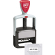Cosco 2000 Plus self-inking S660 one color custom dater stamp with plastic handle. The S660 falls under the Cosco 2000 Plus Office Line and is perfect when you're looking for a light weight solid stamp. This dater prints the date and text in one color.