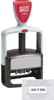 Cosco 2000 Plus S660 Self Inking Stamp Dater