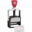 Cosco 2000 Plus self-inking S660 two color custom dater stamp with plastic handle. The S660 falls under the Cosco 2000 Plus Office Line and is perfect when you're looking for a light weight solid stamp. This self-inking dater prints a red date.