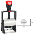 Cosco 2000 Plus 2460 One Color Heavy Duty Metal Self-Inking Custom Dater Stamp for Repeat Stamping. The 2460 falls under the Cosco 2000 Plus Classic Line, the most popular heavy duty stamp. Perfect when you need a rugged stamp for almost any application.