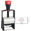 Cosco 2000 Plus 2460 Two Color Heavy Duty Metal Self-Inking Custom Dater Stamp for Repeat Stamping. The 2460 falls under the Cosco 2000 Plus Classic Line, the most popular heavy duty stamp. Perfect when you need a rugged stamp for almost any application.