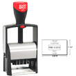 Cosco 2000 Plus 2660 heavy duty metal self-inking custom dater stamp for repeat stamping. The 2660 falls under the Cosco 2000 Plus Classic Line, the most popular heavy duty stamp. The steel reinforced frame stamp is perfect when you need a rugged stamp.