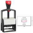 Cosco 2000 Plus 2860 heavy duty metal self-inking custom dater stamp for repeat stamping. The 2860 falls under the Cosco 2000 Plus Classic Line, the most popular heavy duty stamp. The steel reinforced frame stamp is perfect when you need a rugged stamp.