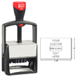 Looking for a self-inking stamp dater for the office? This rectangular 2000 Plus Classic Line 2860 dater comes in 1 ink color and includes up to 8 lines of customization.