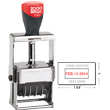 "Cosco 2000 Plus 3160 Expert Line heaviest duty all-steel metal self-inking custom dater stamp for designed for industrial use. The 3160 falls under the Cosco 2000 Plus Expert Line. Impression size: 1"" x 1-5/8"""