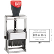 "Cosco 2000 Plus 3160 Expert Line heaviest duty all-steel metal self-inking custom dater stamp designed for industrial use. Solid industrial full-metal self-inking die plate dater. Impression size: 1"" x 1-5/8"""