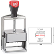 "Cosco 2000 Plus 3860 Expert Line heaviest duty all-steel metal self-inking custom dater stamp designed for industrial use. Solid industrial full-metal self-inking die plate dater. Impression size: 2"" x 2-3/4"""