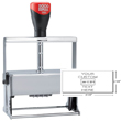 "Cosco 2000 Plus 3960 Expert Line heaviest duty all-steel metal self-inking custom dater stamp designed for industrial use. Solid industrial full-metal self-inking die plate dater. Impression size: 2-1/8"" x 4-1/8"""