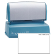 Looking for a pre-inked stamper? The Evostamp EP-55 allows for 8 lines of customization perfect for a professional logo stamp with address.