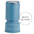 The Cosco Evostamp EPR17 is a customizable pre-inked round stamp, ideal as a check stamp or for a small logo. Find it at EZ Custom Stamps or call (608) 310-4300.