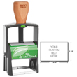 Looking for a custom ecofriendly self-inking stamp dater? Shop 8 line, 1 color, 2000 plus Green Line 2600 Self-inking stamp dater here!