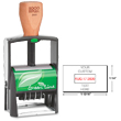 Looking for a custom ecofriendly self-inking stamp dater? Shop 6 line, 2 color, 2000 plus Green Line 2660 Self-inking stamp dater here!
