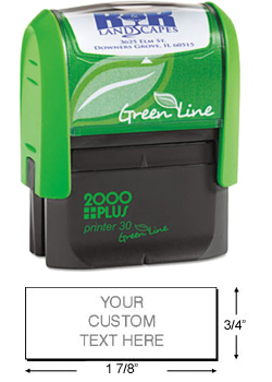 This eco-friendly self-inking stamp printer from 2000 Plus is perfect for the workplace. Get up to 5,000 impressions per pad and customize with your own text.