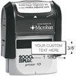 Now you can create your own custom self-inking address stamper with the Cosco 2000 Plus P10 Line Stamp. Find it now at EZ Custom Stamps or call (608) 310-4300.