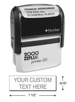 cosco 2000 plus p20 line stamp personalized self inking stamp return
