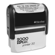 Looking for a customizable self-inking stamp printer for the office? This 2000 Plus Printer P30 model allows for up to 5,000 quality impressions per ink pad with customizable text and logo.