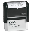 Make a custom stamp with your business address or company logo with this 2000 Plus P40 Self-Inking Stamp Printer. Buy today from the EZ Custom Stamps store.