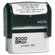 Make a custom stamp with your business address or company logo with this 2000 Plus P50 Self-Inking Stamp Printer. Buy today from the EZ Custom Stamps store.