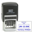 Make the perfect customized address stamp or logo stamp with this 2000 Plus P52 Self-Inking Rectangular Stamp Dater. Buy today from the EZ Custom Stamps store.