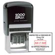 This 2000 Plus self-inking 2-color stamp dater generates a month/day/year/format stamp valid for 12 years. Buy today from the EZ Custom Stamps store.