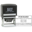 This large self-inking 1-color stamp dater provides you with plenty of room to create a custom stamp for your business. Choose up to  8 lines of text with 5,000 impressions per ink pad.