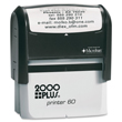 Design a custom address return stamp with the 2000 Plus P60 Self-Inking Stamp Printer. Shop for a high-quality stamper on the EZ Custom Stamps store today.