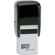 "Cosco 2000 Plus Q24 is a self-inking custom stamp with square 1"" x 1"" copy area. Design up to 6 lines of text or upload your own artwork. Ideal for US Postage, monograms, logos, company taglines, icons, or any other great idea you have!"