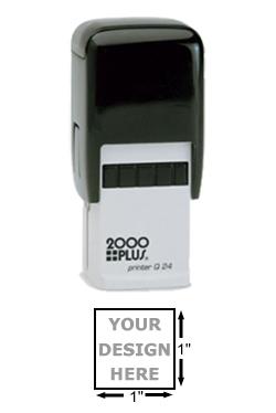 2000 plus printer q24 self inking custom stamp 1 square