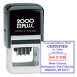 2000 Plus Q43 Dater is the biggest square dater model in the 2000 Plus series. Generates a month/day/year format. Year band is valid for 12 years. Stamps a square imprint with