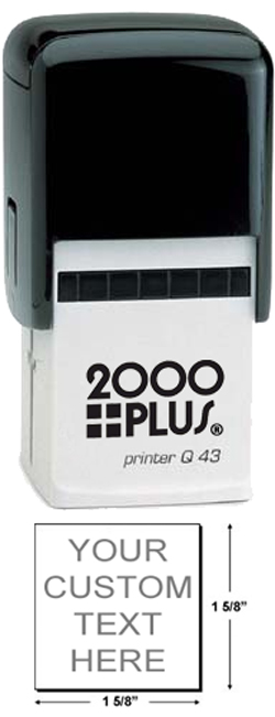 Looking for self-inking stamp? Create your own stamp online. Choose custom text, ink color and font style. Fast Shipping