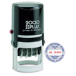 Need round self-inking stamp daters? Shop the Cosco 2000 Plus R40 2 color round self-inking stamp dater with 6 lines of customization at the EZ Custom Stamps Store.