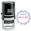 The Cosco 2000 Plus R 40 round stamp is the perfect self-inking date stamp to stamp your date. Find it now at EZ Custom Stamps or call (608) 310-4300.
