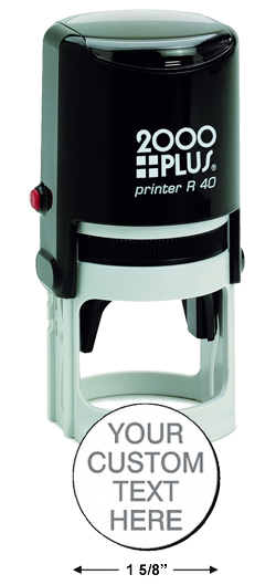 cosco 2000 plus r 40 self ink stamp round stamp professional seal