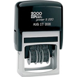 Cosco 2000 Plus Printer S-220 (010129) is an economical self-inking line dater. It is a stock dater with no need to customize. Stamps the date with month/day/year and includes 6 phrases to choose from. The year band is valid for 6 years. A