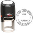 Need a licensed land surveyor stamp? Check out our Ideal California licensed land surveyor self-inking stamp at the EZ Custom Stamps Store.