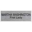 """Looking for name badges with magnet backing? Shop our 1"""" X 3"""" name badges with magnet backings with 2 lines of customization at the EZ Custom Stamps Store."""