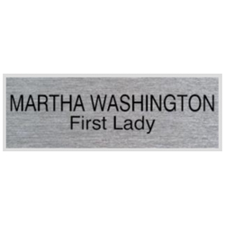 "Looking for name badges with magnet backing? Shop our 1"" X 3"" name badges with magnet backings with 2 lines of customization at the EZ Custom Stamps Store."