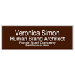 """Looking for name badges with magnet backing? Shop our 1"""" X 3"""" name badges with magnet backings with 4 lines of customization at the EZ Custom Stamps Store."""