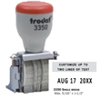 Trodat 3350 line dater is adjustable, small and compact. Easy to use whenever space is limited. Part of the Non Self-Inking Die-Plate Daters Family. | Order online or call EZ Custom Stamps | (608) 310-4300