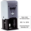 "Looking for stamp daters? Check out our Trodat self-inking 1.25"" square one-color stamp dater with up to 6 lines of customization at the EZ Custom Stamps Store."