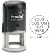 "Need custom stamp daters? Check out our Trodat self-inking 0.625"" round stamp dater with up to 5 lines of customization at the EZ Custom Stamps Store."