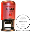 Date and sort office documents easy with the Trodat 46140 Round Self Inking Date Stamp