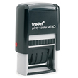Need custom stamp daters? This Trodat Printy self-inking, two-color rectangular stamp dater allows up to 4 lines of customization. Buy it here today.