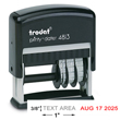 "Need custom stamp Trodat dater? This Trodat Printy self-inking 1"" stamp dater allows up to 1 line of customization. Available here."