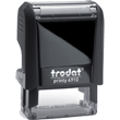 Need custom stamp daters? This Trodat Printy 4910 model is a self-inking rectangular stamp dater with up to 2 lines of customization.